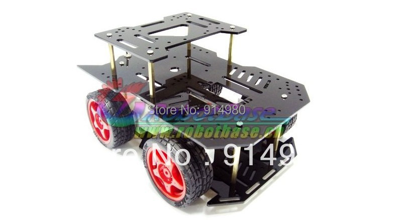 DIY DC Robot For Arduino motor 4 wd light type mobile platform car electronic design contest four wheel drive free shipping 3v 0 2a 12000rpm r130 mini micro dc motor for diy toys hobbies smart car motor fod remote control car