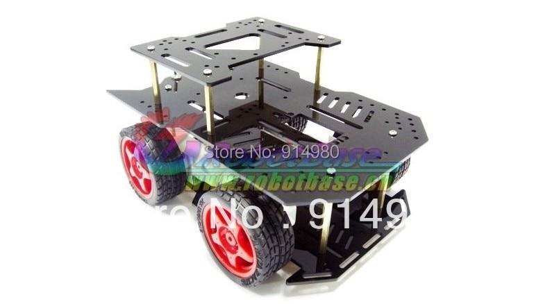 DIY DC Robot For Arduino motor 4 wd light type mobile platform car electronic design contest four wheel drive