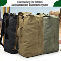 Men Outdoor Bacpkack Luggage Travel Large Army Bucket Women Bag Multifunctional Military Canvas Backpacks Sports Shoulder Bags
