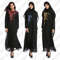 Middle East Abaya Tradition Muslim Dress Turkish Women Clothing Islamic Splice Clothes Turkey Knitted Cotton Pullover