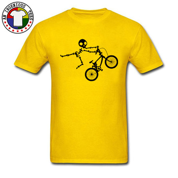 Latest Skeleton Alien BMX Cycle Bike New T-Shirts Custom Short Sleeve T-Shirt Funny Fall O Neck Pure Cotton T Shirt for Men