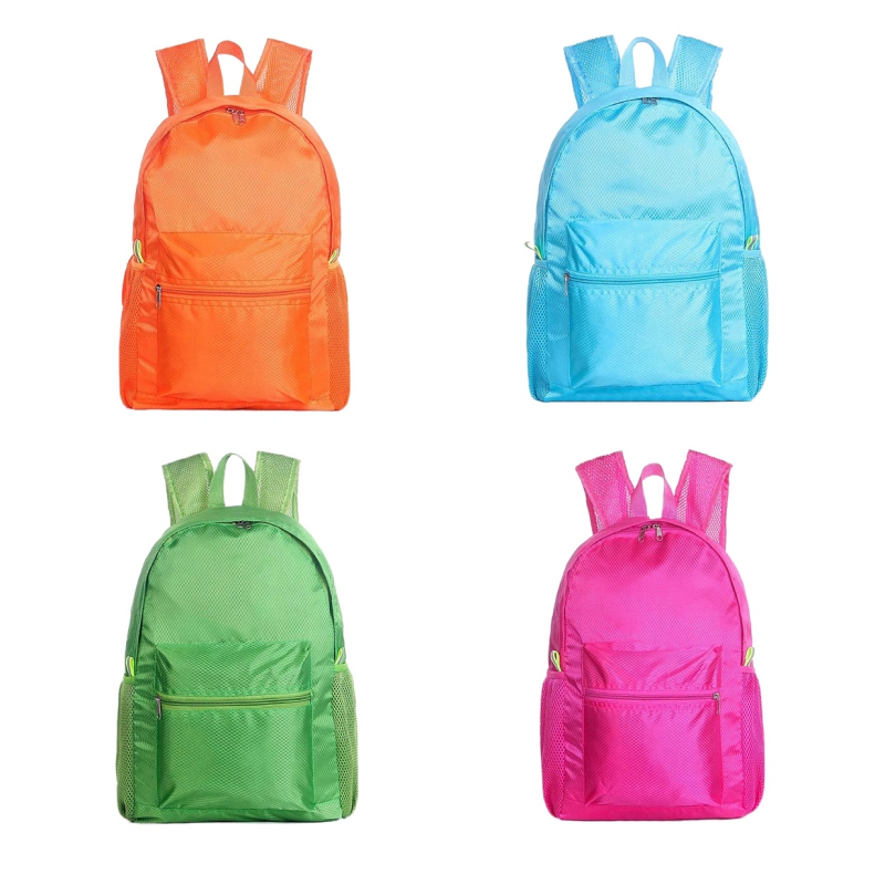 Camping & Hiking Waterproof Travel Backpack Large Capacity Breathable Nylon Outdoor Mountaineering Bag Diamond Shaped Folding Backpack Various Styles Climbing Bags