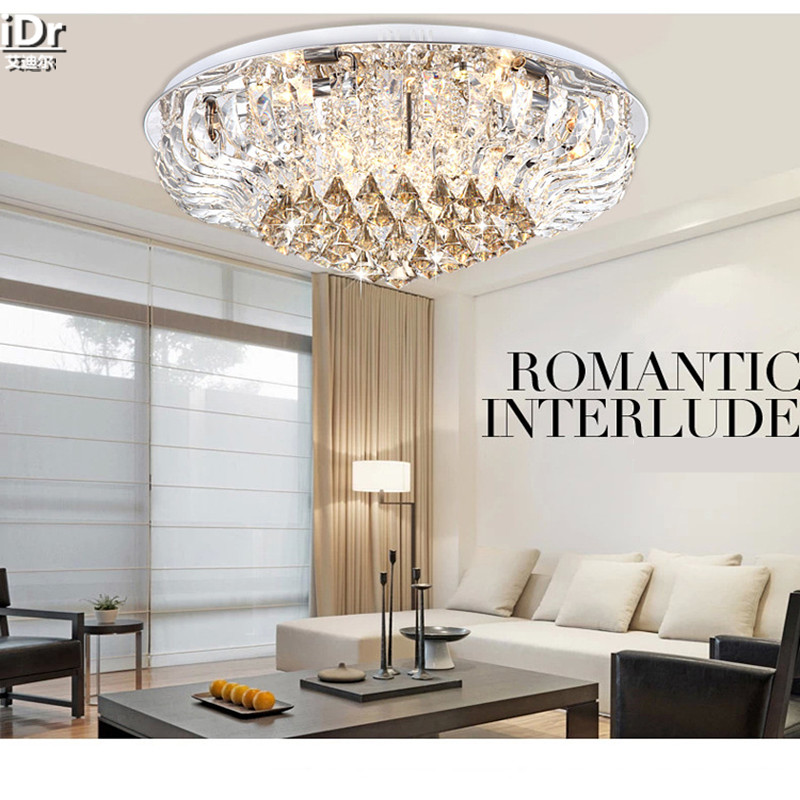US $255.0 50% OFF Runde FÜHRTE kristall lampe modernen minimalistischen  wohnzimmer lampe schlafzimmer lampe dekoriert luxus restaurant  Deckenleuchten ...