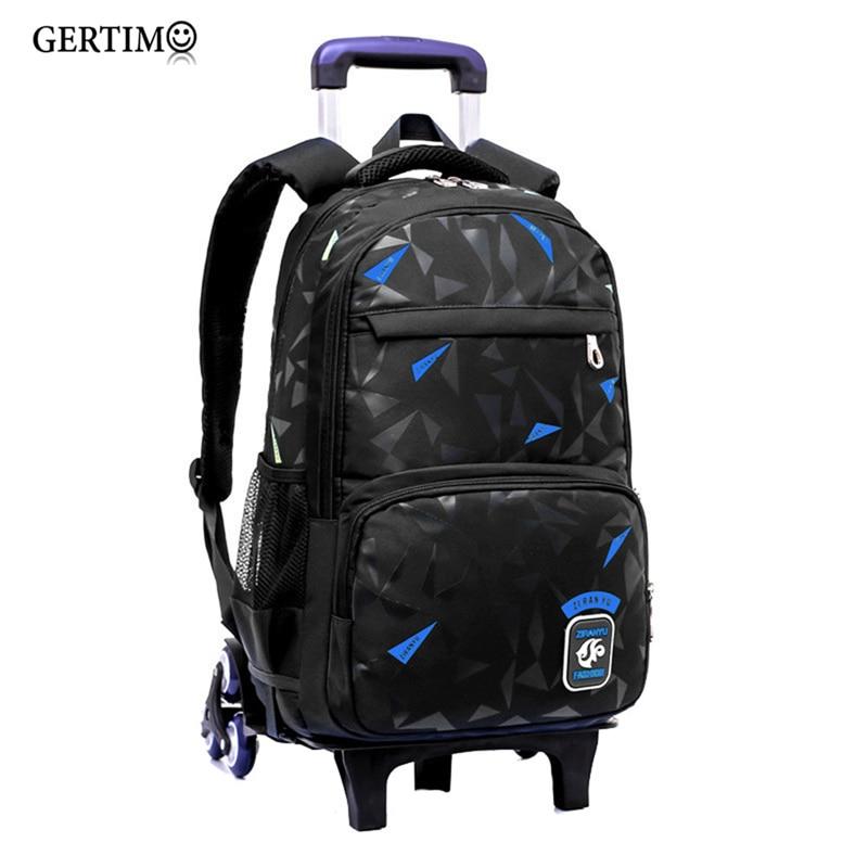 School Bags With Wheels Kids Teenage Boys Girls Large Trolley Schoolbag Orthopedic Wheeled Backpacks Book Bag;mochila Infantil