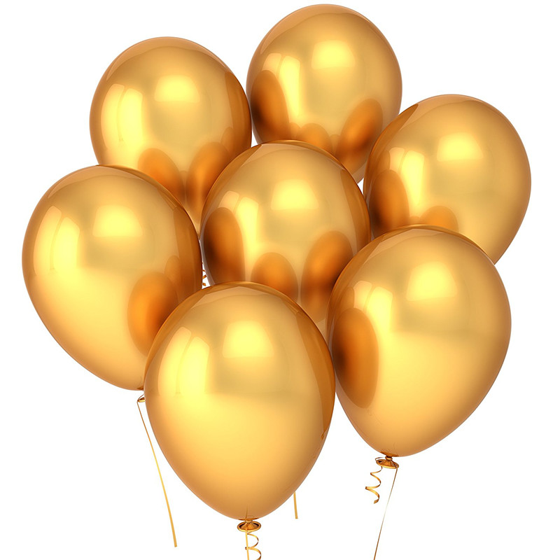 Party Golden Balloons 12 Inches (100pcs), Gold Balloons Bulk Made With Strong Latex For Helium or Air Use, Birthday Party Suppli