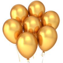 Party Golden Balloons 12 Inches (100pcs), Gold Bulk Made With Strong Latex For Helium or Air Use, Birthday Suppli