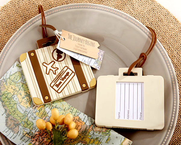 Factory Directly Sale Let The Journey Begin Vintage Suitcase Luggage Tag Travel Cards Boarding Passes Wedding Favors