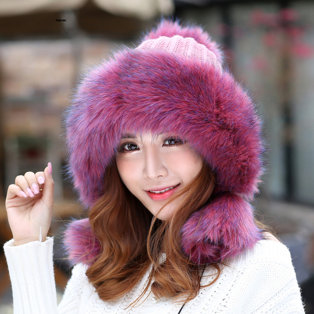Winter Bomber Super Warm Thick Female Hat Berets