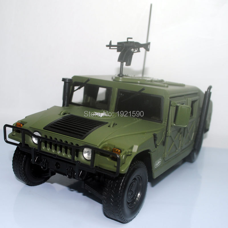 118 scale usa hummer battlefield vehicle suv diecast metal car model toy new in