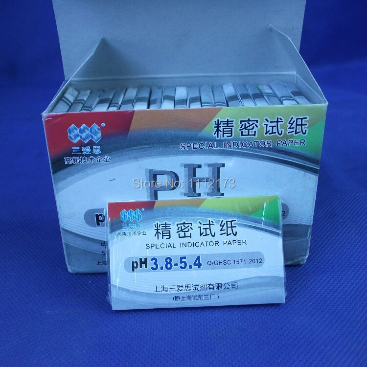 (10 pieces/lot) Accuracy: PH 0.2-0.3, pH Range: 3.8-5.4,Accurate PH test paper,80 Strips ...