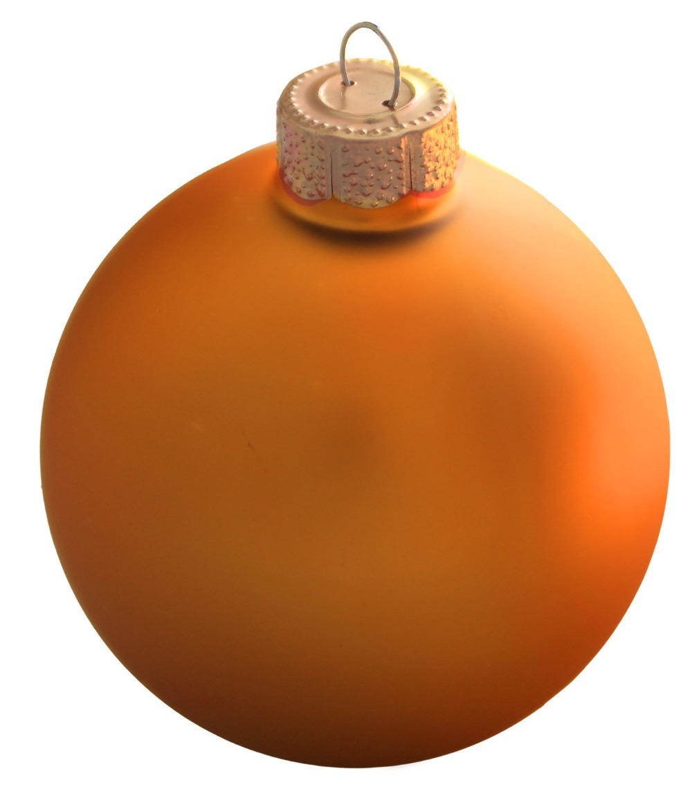 Free Shipping Event Party Wedding Festival Supplier Christmas Xmas Tree Ball Decoration 80mm Orange Ball Ornament - Matte