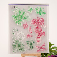 Bow Bells Candle Seal Stamp DIY Scrapbook Transparent Rubber Stamp Flowers And Wreaths Stamp Seal