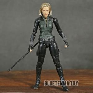 Image 2 - Marvel Avengers Infinity War Black Widow Shf Pvc Action Figure Collectible Model Kinderen Speelgoed Pop