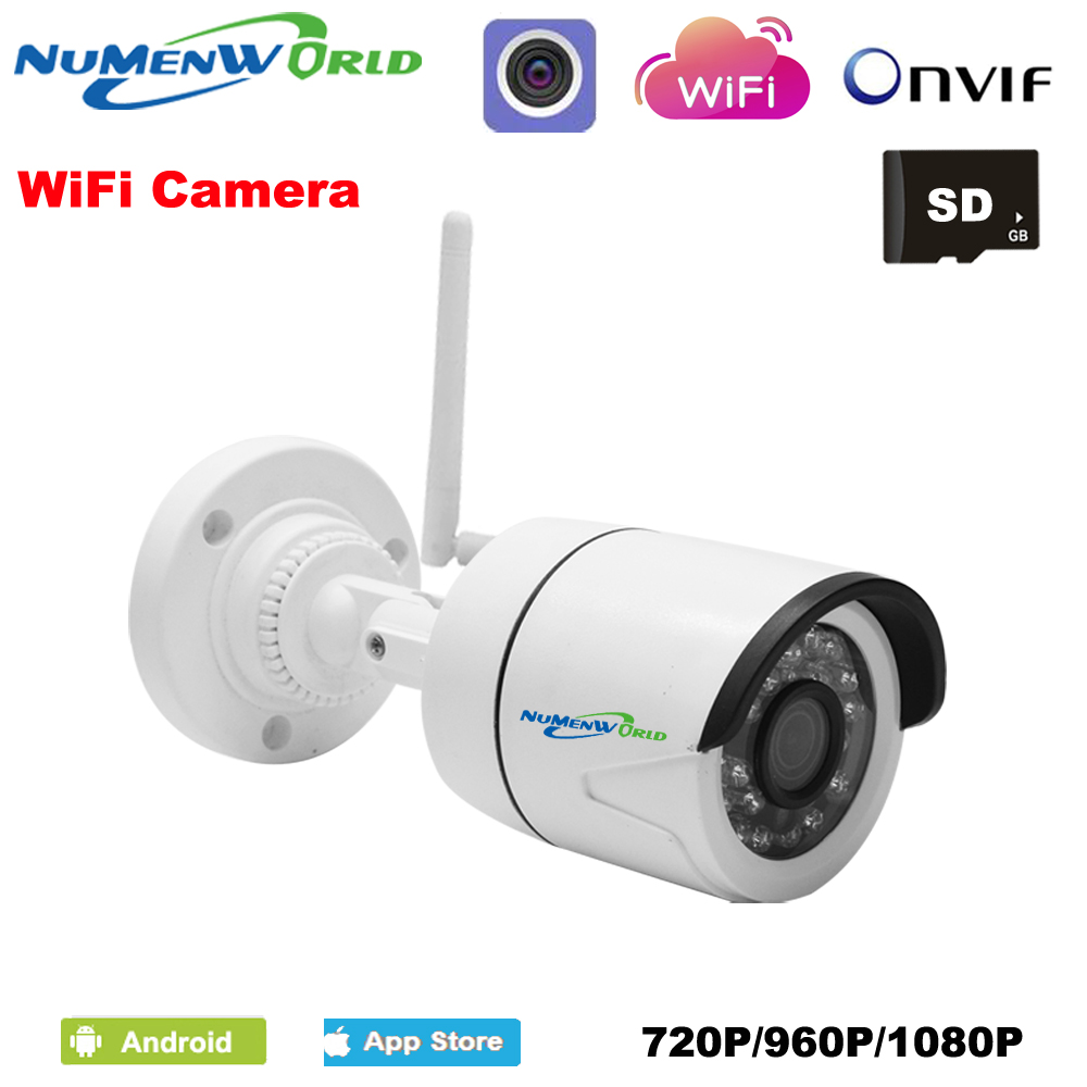 Mini Wifi IP cam 720/960/1080P HD P2P ONVIF 802.11b/g/n wifi network Wired IP Camera IR Outdoor Waterproof Camera IP ABS Plastic цена