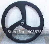 Tri Spoke Carbon Front Wheel 700C 3 Spoke Wheel New Design Clincher Wheel
