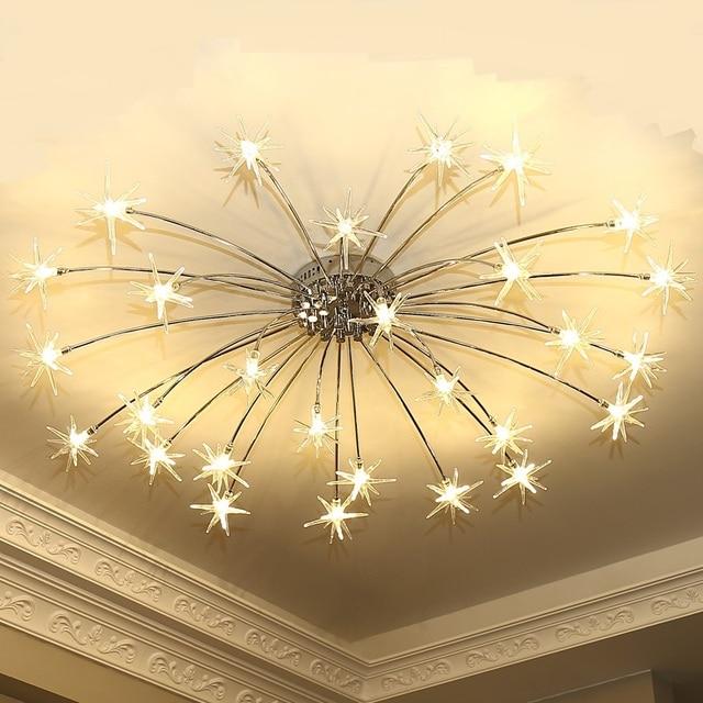 Starlight führte deckenleuchten kreative sterne wohnzimmer ...