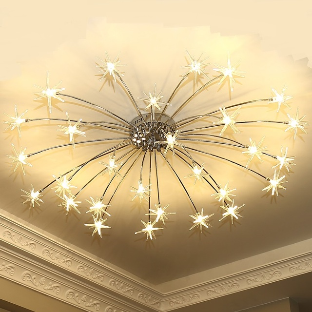 Starlight Led Ceiling Lamps Creative Star Living Room Bedroom Children S Coffee Clothing Lights Za