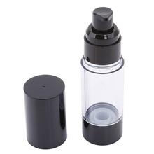 Высокое качество пластиковый портативный безвоздушный флакон косметический насос для лечения путешествия пустой контейнер духи черный колпачок бутылка