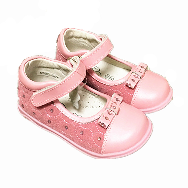 Super quality Shoes 1pair girl Genuine Leather shoes Children Orthopedic, New kids Fashion Shoes,