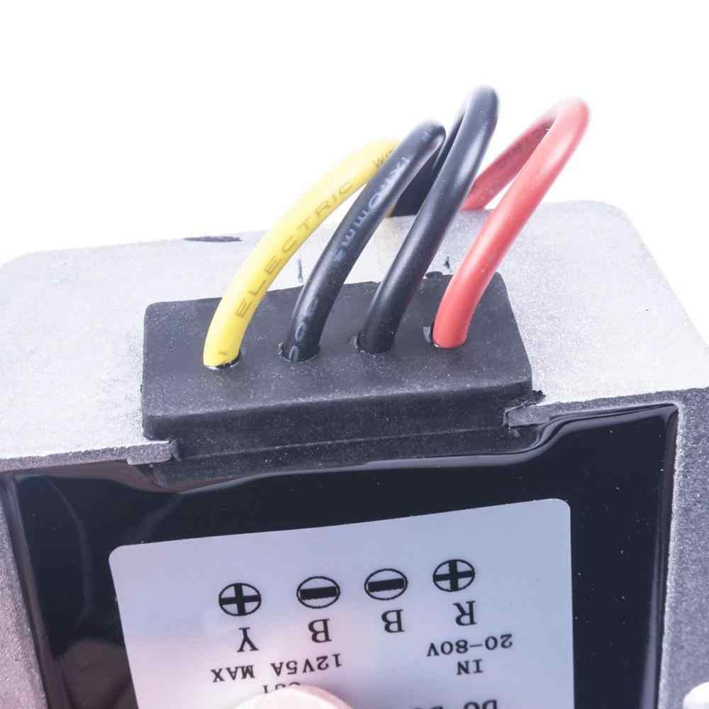 20-80 فولت إلى 12 فولت 3A 5A 8A كبير غلاف من الألومنيوم تيار مستمر محول منظم المخفض 20-80 فولت إلى 12 فولت وحدة تنحى سيارة
