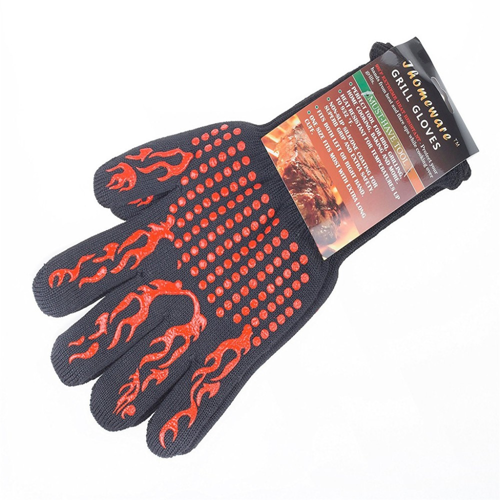 Best Grill Armor Oven Gloves Extreme Heat Resistant As BBQ Gloves, Oven Mitts protective from Fire direct supply new design silicone bbq gloves grilling bbq gloves heat resistant gloves oven mitts en 407