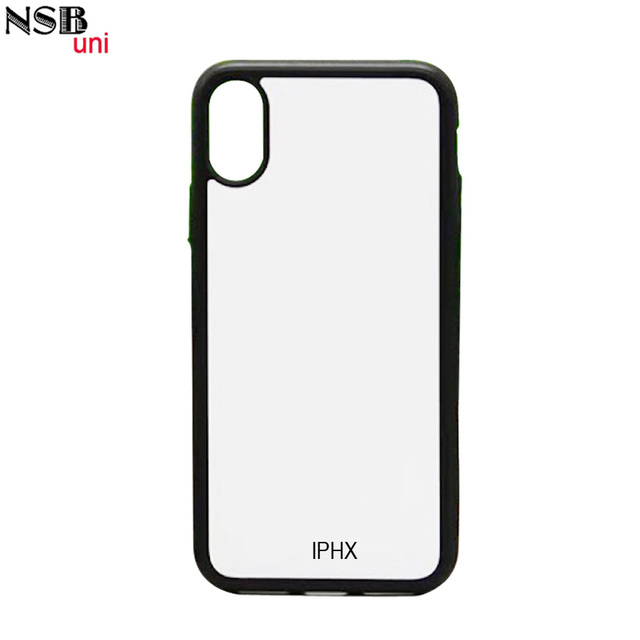 on sale 0f2fb 6d16d US $1.0 |For IPHONE X blank 2D sublimation TPU cell phone cases, DIY  printing rubber back protective cover with white metal plate-in  Half-wrapped Case ...