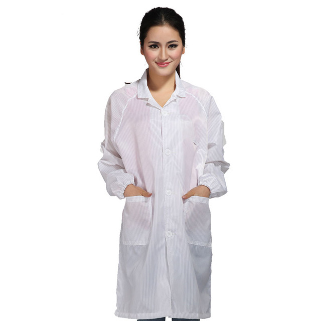Protective Clothing Clean Clothes Anti static Coat Work Wear White ...