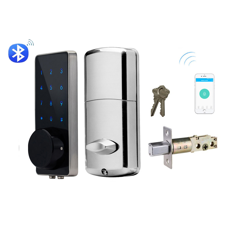 Home Smart Bluetooth Door Lock Electronic Touch Screen Code Password Deadbolt battery Door Lock Unlock with App Code or Key
