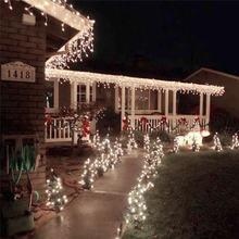 Рождественская светодиодная гирлянда 220 В 10 м 100 светодисветодиодный