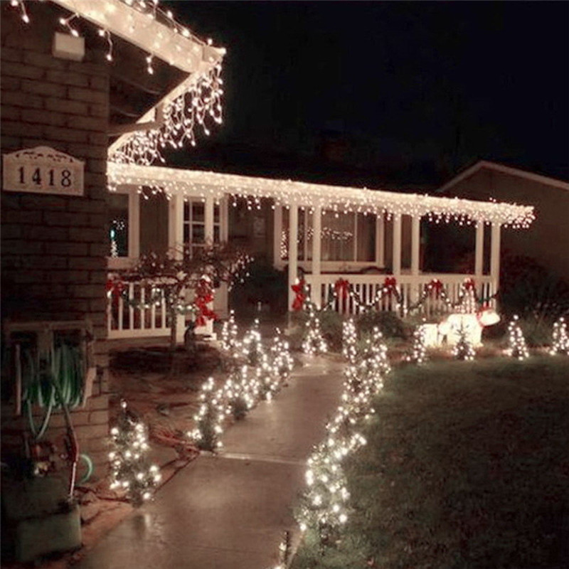 220V LED String Christmas Lights 10M / 100leds With 8 Modes Christmas Decorations For Home / Holiday / Party / Wedding / Xmas