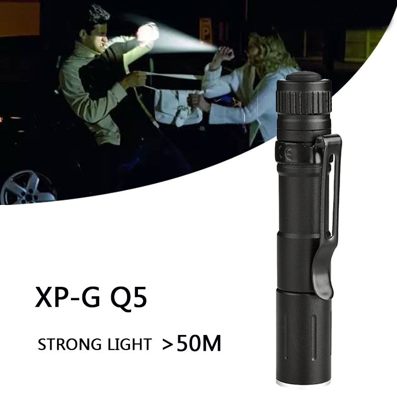 Image 2 - Litwod Z20 7W XP G Q5 2000LM mini LED Flashlight Torch ZOOM Waterproof LED Zoomable Lanterna AAA Battery Led For camping-in LED Flashlights from Lights & Lighting