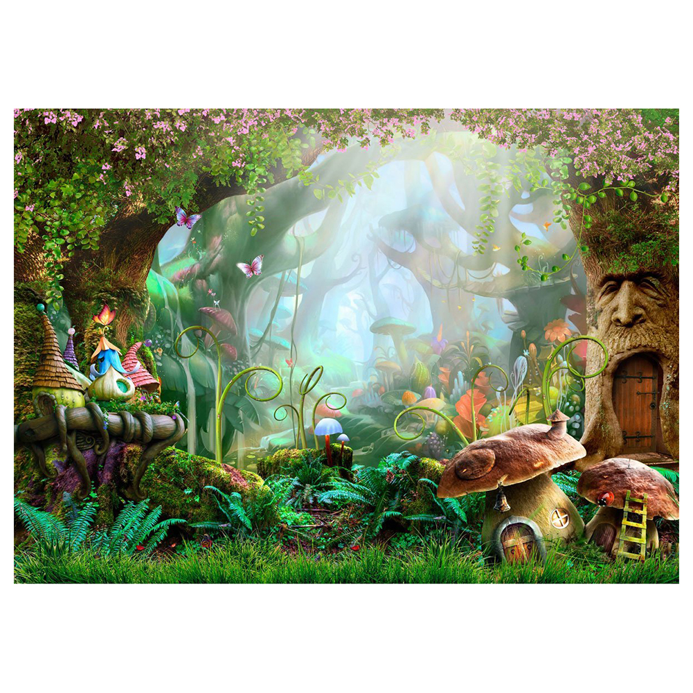 7x5ft Washable Fabric Photography Background Fairytale Dreamlike Nature Forest Life Background Photographical Backdrops fo send rolled enchanted forest backdrop secret garden lantern fairy tale printed fabric photography background s0038
