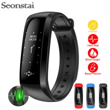 Seonstai M2S Sensible Band Coronary heart Fee Blood Strain Pulse Bracelet Health Watch Oximeter Pedometer Smartband for iOS Android