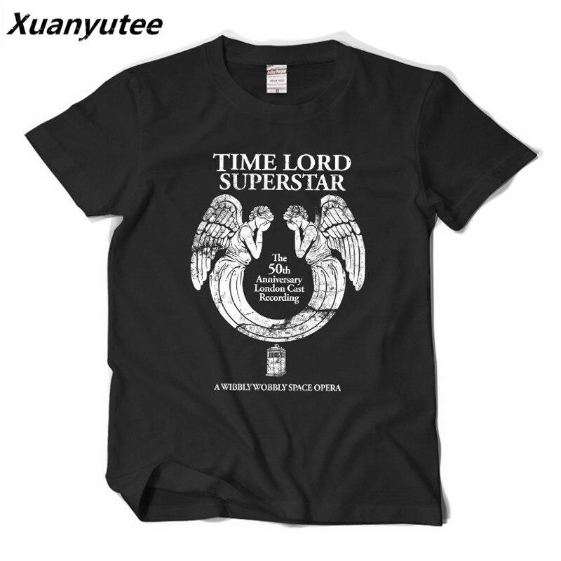 Xuanyutee Doctor Who T-shirt Men 3D Print Weeping Angel Shirt Fashion O-neck Short Sleeve 2XL Navy Blue Cotton Tee Shirt Homme