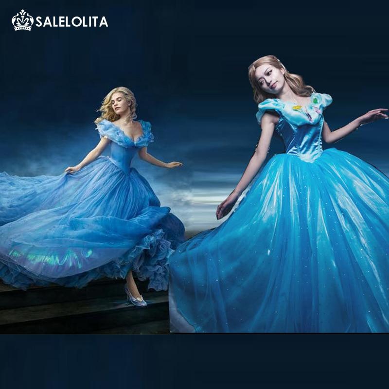 Online Get Cheap Cinderella Gown Aliexpress Com: Aliexpress.com : Buy New Cinderella Princess Costume 2015