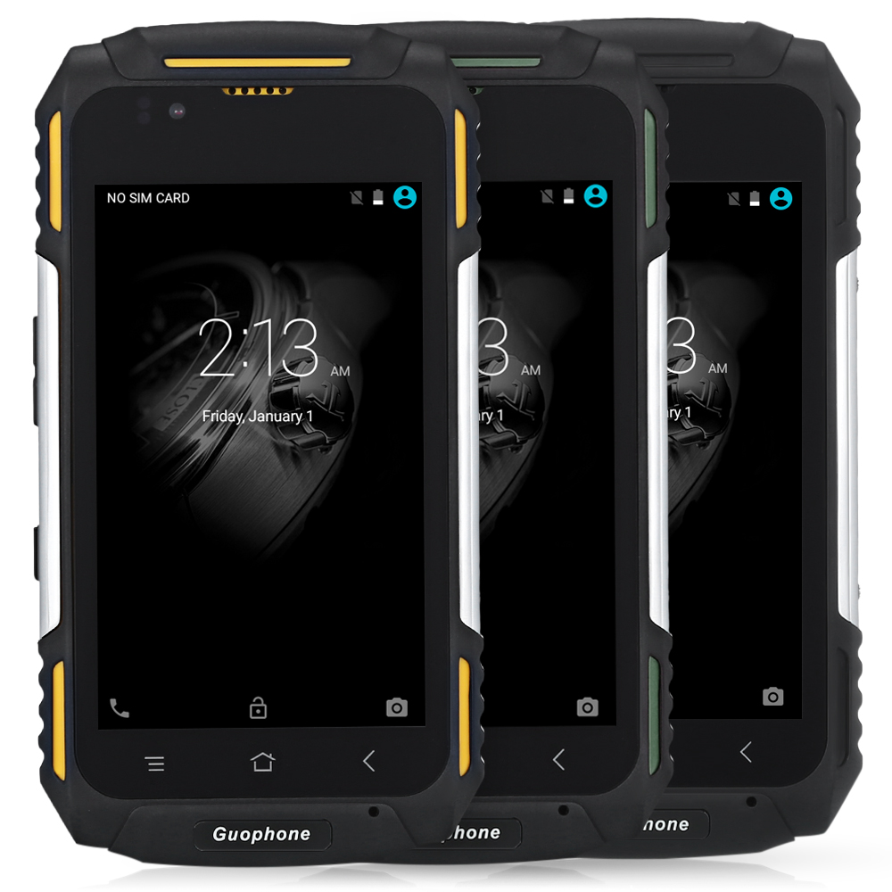 Guophone V88 IP58 Waterproof Android Mobile Phone MTK6580 Quad Core 1GB+8GB Dustpoof Shockproof 4.0'' IPS 3G Smartphone 4500mAh
