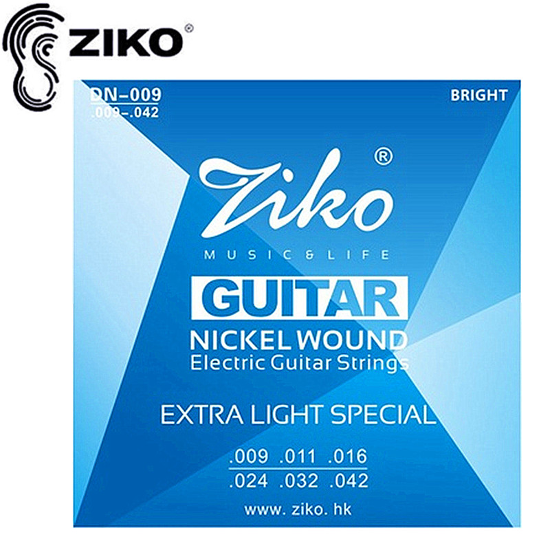ZIKO guitar strings.009-.042 Electric Guitar strings guitar parts Let guitar pedal wonderful musical instruments Accessories 009 042 electric guitar strings color nickel alloy hat cew730
