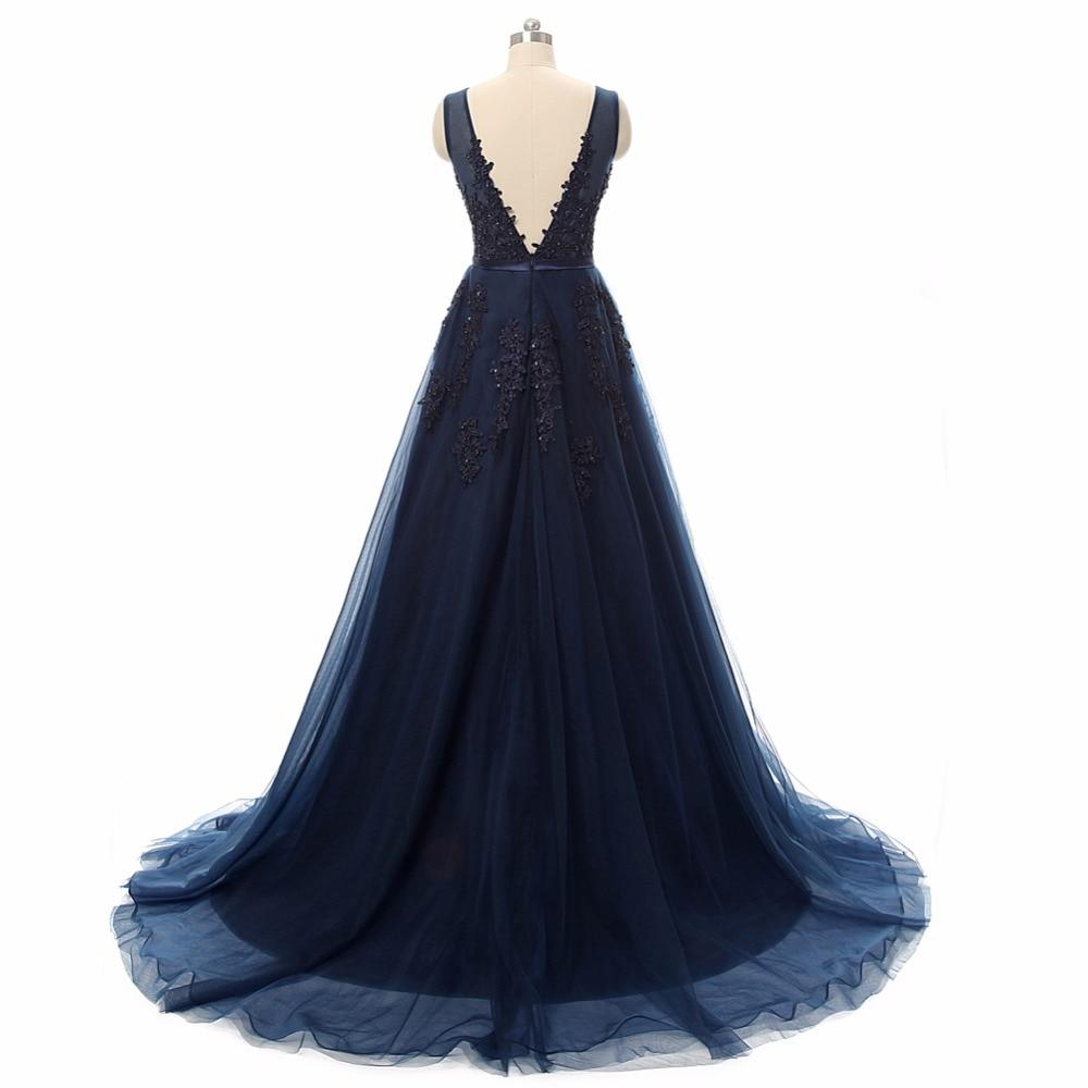 Vestido de festa Nykomnande V Halsband med Lace Appliques Lång Tulle - Särskilda tillfällen klänningar - Foto 6