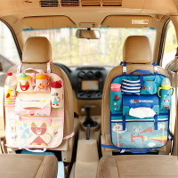 Cartoon Car Seat Organizer Backseat Organizer For Kids Multi Pocket Travel Storage Bag Heat Preservation