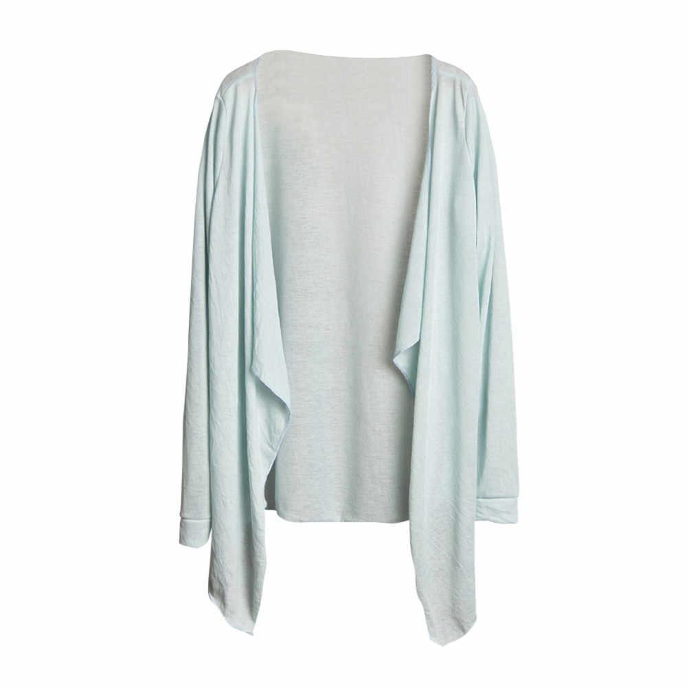 Для женщин блузка Толстовка Повседневное лето, защита от солнца Топы Для женщин длинный тонкий кардиган модал Солнцезащитная Одежда Топы D1