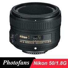 Nikon 50/1. 8 г объектив NIKKOR AF-S 50 мм f/1,8 г линзы для Nikon D3200 D3300 D3400 D5200 D5300 D5500 d5600 D7100 D7200 D7500 D500