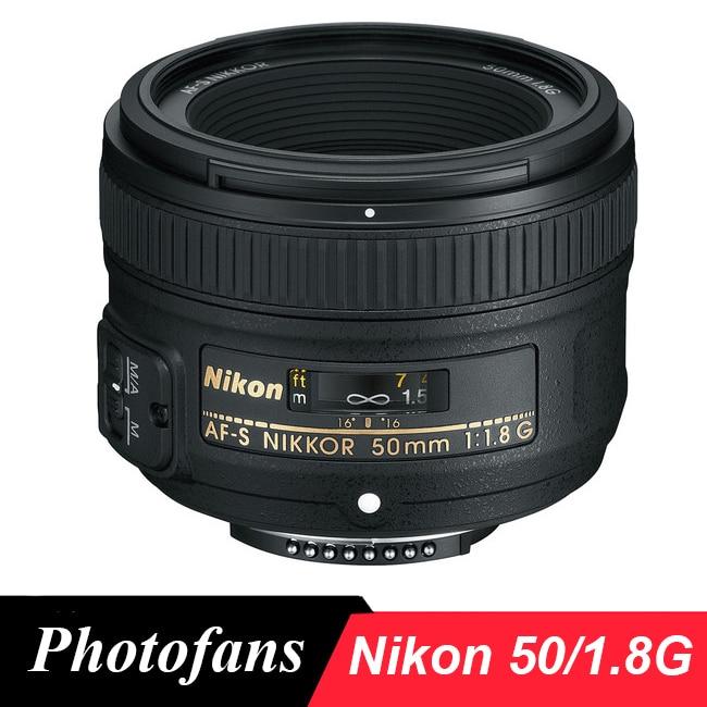 Nikon 50/1. 8G Lente AF-S NIKKOR 50mm f/1.8G Lentes para Nikon D5600 D5500 D3400 D3200 D3300 D5300 D5200 D7100 D7200 D7500 D500