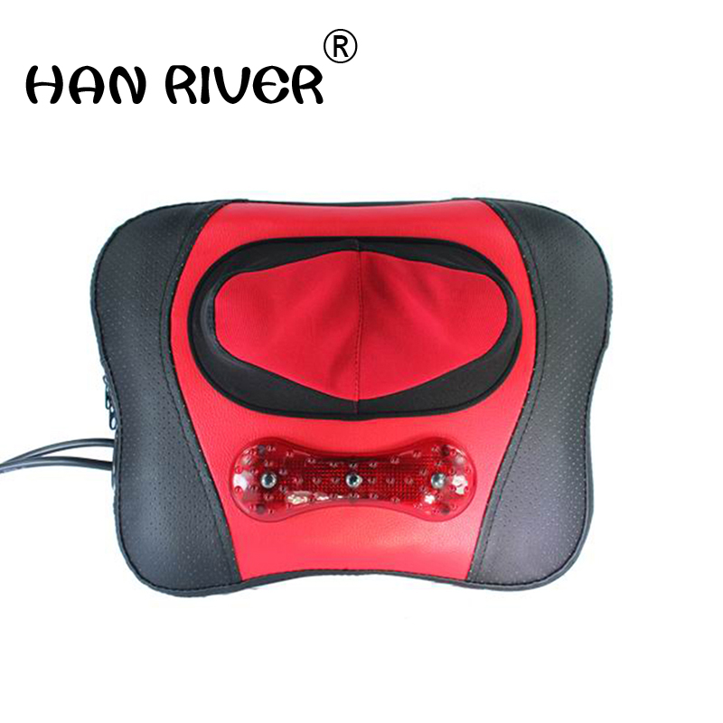 Massage pillow back neck massage cushion neck shoulder waist multi-purpose household heating body massager акриловая ванна ravak chrome 150x70 белая