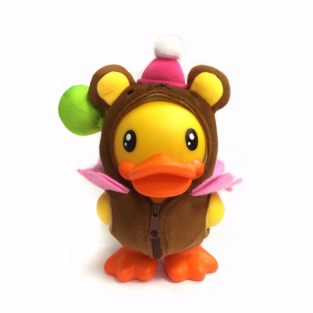 16cm Anime Duck Figure Duck Doll Toys PVC Vinyl  Money Box Cute Home Decor Best Gifts for Kids Semk Duck Toys fancytrader new style giant plush stuffed kids toys lovely rubber duck 39 100cm yellow rubber duck free shipping ft90122