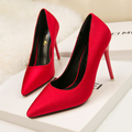 2017 newest High heels Red Black Women Shoes Elegant Bride Sexy Pumps Party Crystal Pointy toe Nightclub Lady Wedding Shoes