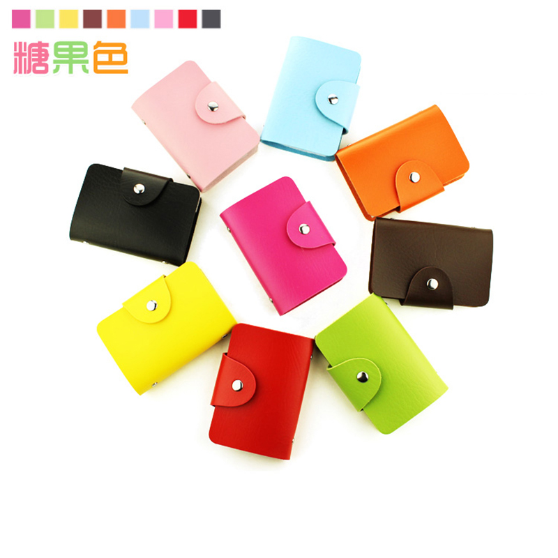 Fashion 24 Pockets PU Commercial Business Card Book Card Stock Name Cards Credit Bank Card Holder