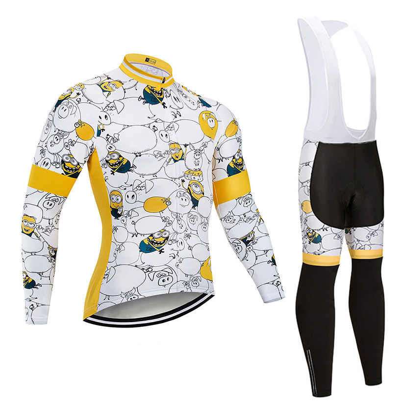 758ad997 2019 Funny Cycling Jersey Set Bicycle Clothes Wear Bike Clothing Ropa  Ciclismo MTB Uniform Breathable Mens