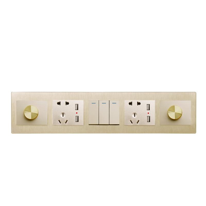 New electronic hotel onepiece pop switch wall plug socket with usb power smart Siamese custom multi