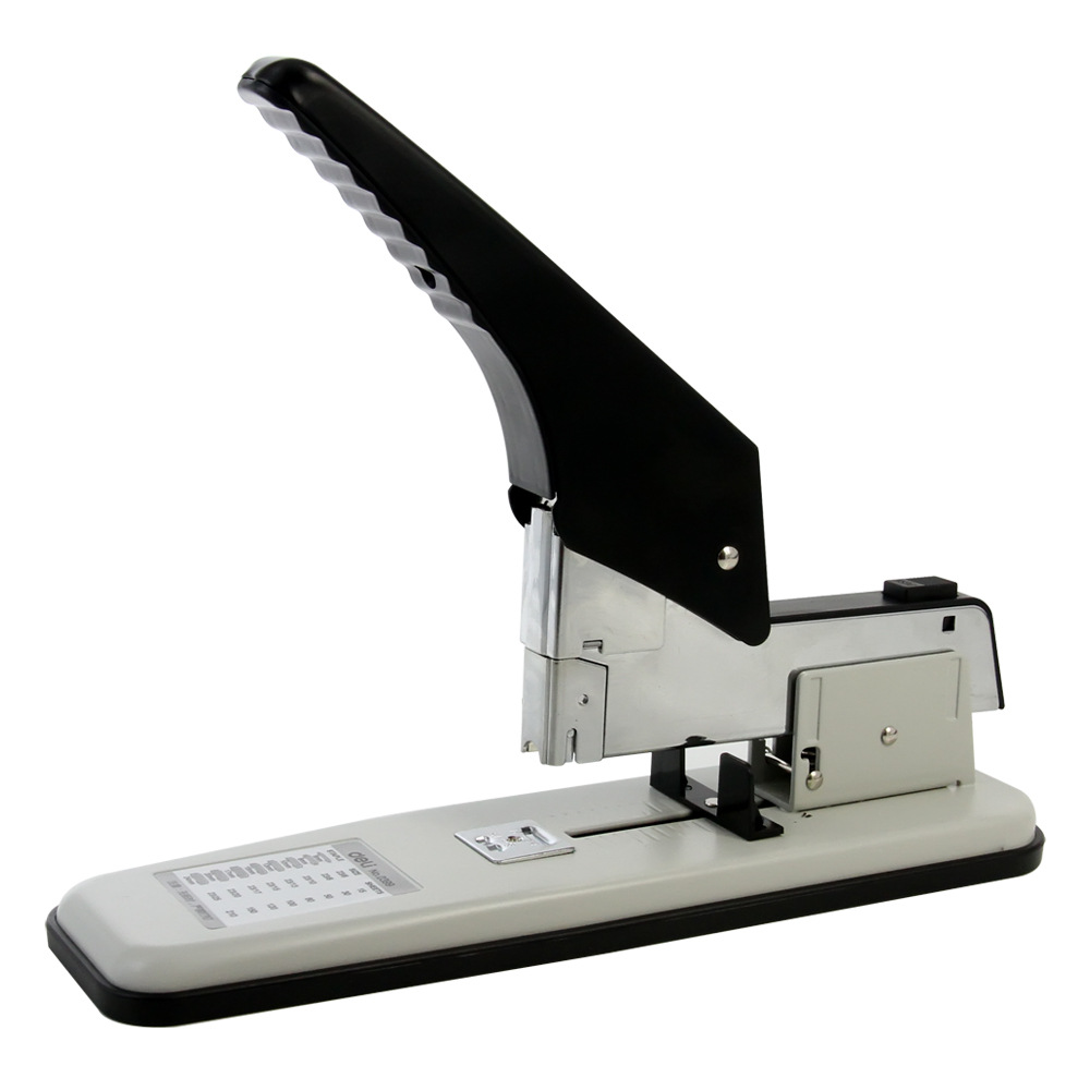 DELI Thick stapler stapler heavy duty thickened and long-lasting effort School stapler stapler 210 page 210 sheets deli stationery thick layer deli 0383 heavy duty manual jumbo stapler large thickening effortless heavy duty stapler
