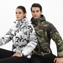 цена на Autumn Winter Men Women Waterproof Jacket Outdoor Camping Trekking Coat Fishing Windbreaker Climbing Camouflage Hiking Jackets